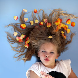 Blowing kisses by Lize Hill - Babies & Children Child Portraits