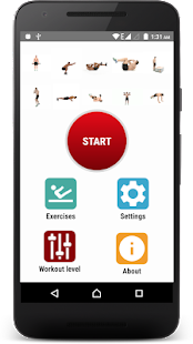 Daily Exercises Fitness app screenshot for Android