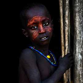 Boy Arbore by Damjan Voglar - Babies & Children Child Portraits ( ethnic, traveling, tribe, travel, portraits, africa, boy, photo, portrait, culture, travel photography, photography )