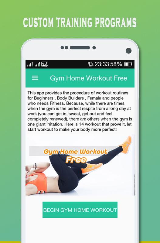 Gym Home Workout Offline Free Screenshot