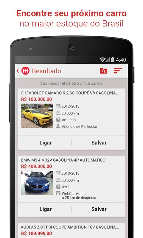 Webmotors - Comprar e Vender Screenshot 0