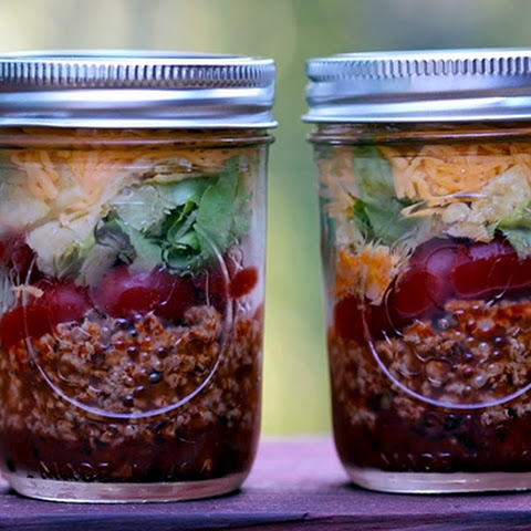 Skinny Taco Salad in a Jar