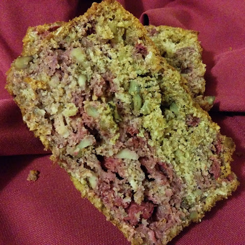 Raspberry Walnut Quick Bread