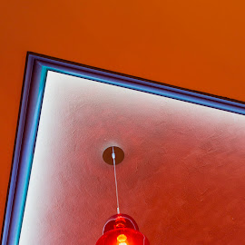 Red ceiling by Carla Coanda - Buildings & Architecture Other Interior ( interior, detail, lightening, stilllife, furnishing, decoration, still life, still, architectural detail, architecture, decor, red, light painting, offices, ceiling, blue, bulb, artistic objects, light, design,  )