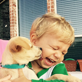 Little Buddies by Ashley Tamburin Practical Pearls - Babies & Children Toddlers ( love, puppy, laughter, boy, kisses )