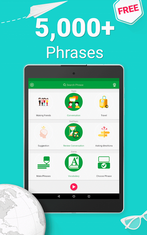 Learn Arabic - 5000 Phrases Screenshot 16
