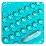 water drops keyboard theme Icon