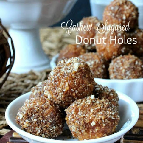 Cashew Sugared Donut Holes