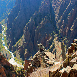 The Gunnison by Kirby Hornbeck - Landscapes Caves & Formations ( colorado, national parks, landscapes, canyons, rocks )