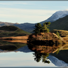 Reflection... by Sannit Hazra - Novices Only Landscapes ( wonders of snowdonia, north wales, snowdonia, lakes of snowdonia )