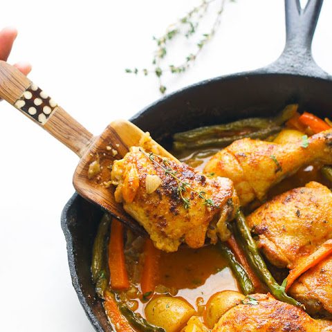 Braised Thyme , Garlic , Mustard Chicken
