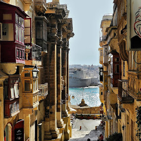 Towards the sea by Francis Xavier Camilleri - City,  Street & Park  Street Scenes (  )