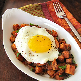 Oven Roasted Sweet Potato Hash
