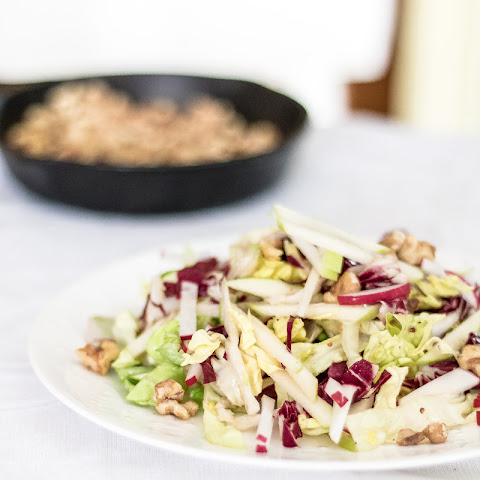 Apple and Radicchio Salad with Walnut Vinaigrette