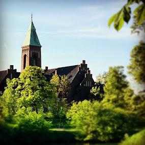 Swedish church in Coenhagen by Aleksey Maksimov - Instagram & Mobile Instagram