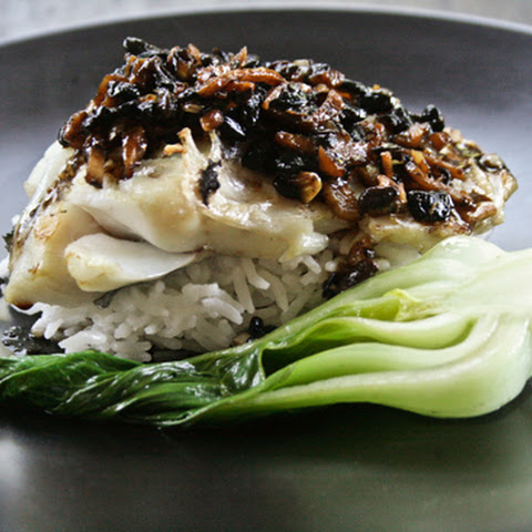 Roasted Rockfish with Black Bean, Garlic and Ginger Sauce