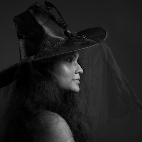 cap by Jugal Das - Black & White Portraits & People