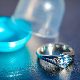 Engagement by Kevin Wickersham - Artistic Objects Jewelry ( ring, macro, turquoise, silver, up, close, engagement )