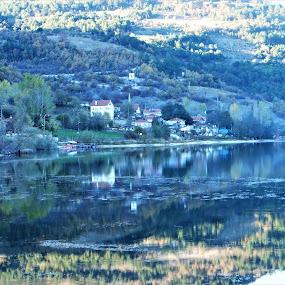 Manzara by Recep Cenbek - Landscapes Waterscapes ( manzara, köy, göl, su.yansıma )