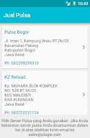 Screenshot of Jual Pulsa