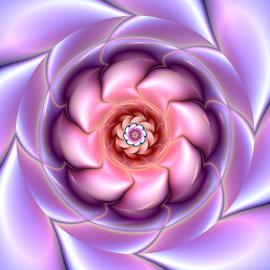 Flower design 3 by Cassy 67 - Illustration Abstract & Patterns ( purple, swirl, spiral, digital, love, digital art, twist, harmony, pink, fractal, flowers, fractals, flower )
