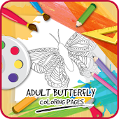 App Adult Butterfly Coloring Pages APK for Kindle