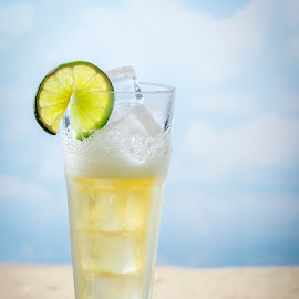 Chilled Beer by Jim Downey - Food & Drink Alcohol & Drinks ( refreshing, beer, ice chilled, summer, beach afternoon, lime, relaxing )