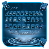 Download hacker geek keyboard computer dark blue net APK to PC