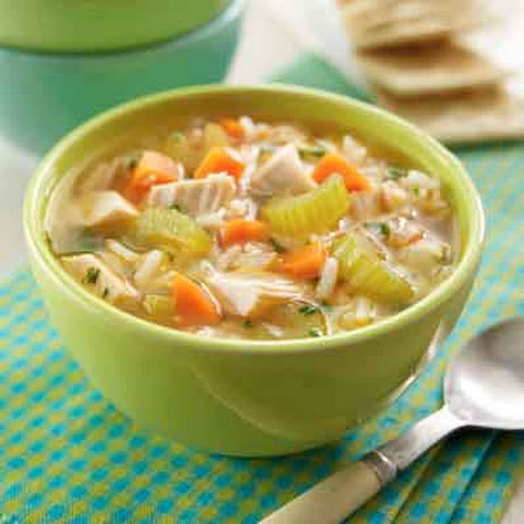 Super Easy Chicken & Rice Soup