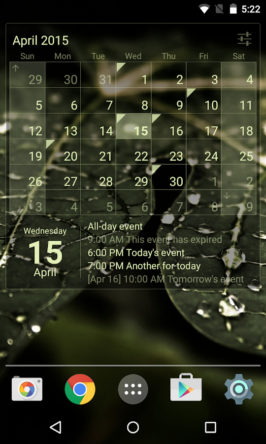 Calendar Widget Month + Agenda Screenshot 2