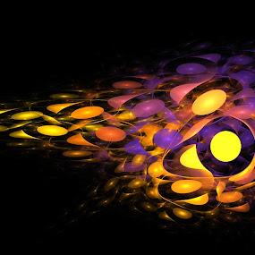 Bubbles by Ilaria Rosa - Digital Art Abstract ( bubble, color, art, digital )