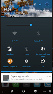 Blue circle CM13 theme - screenshot