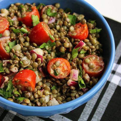 Dinner Tonight: Roasted Tomato Lentil Salad with Crispy Shallots ...
