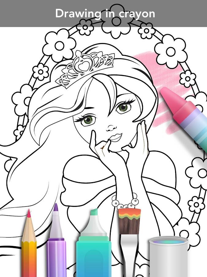 Princess coloring book Screenshot 13