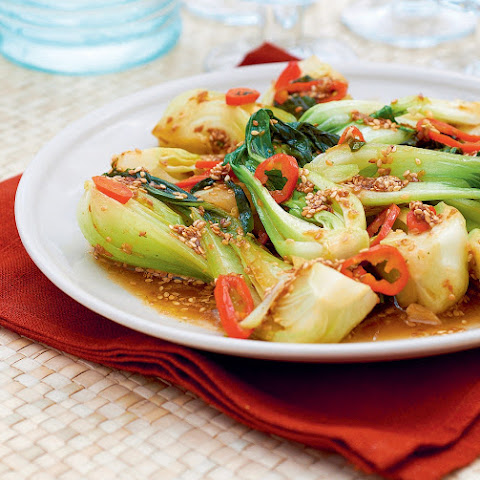 Spicy Pak Choi With Sesame Sauce