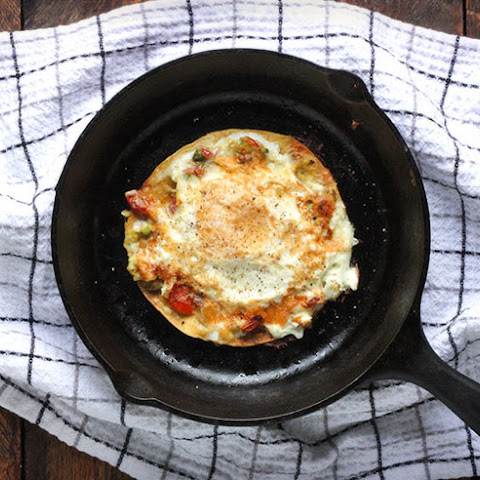 Open-faced Fried Egg Quesadilla