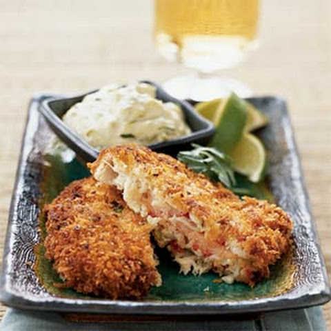 Salmon-Stuffed Crab Cakes