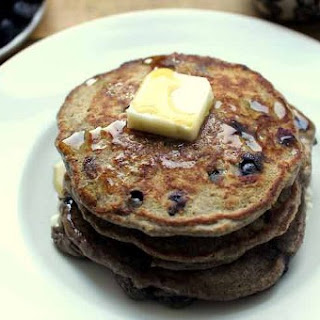 Buckwheat and Oat Blueberry Pancakes