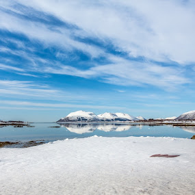 Wintertime by Benny Høynes - Landscapes Mountains & Hills ( clearwater, mountains, waterscape, norway, winter, ice, sea, canon )