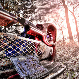 Better Days by DE Grabenstein - Digital Art Things ( antique truck, truck, old truck, nebraska )
