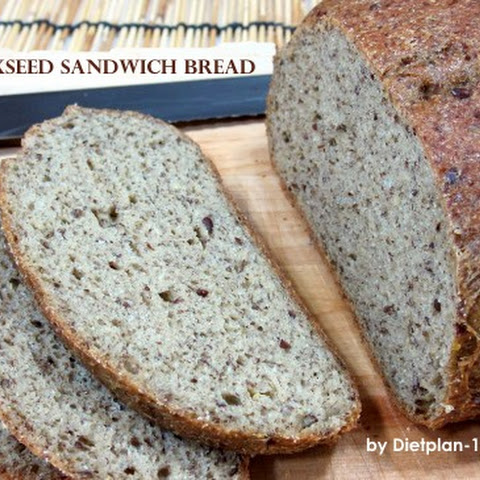 Low Carb Flaxseed Sandwich Bread (with Bread Machine)