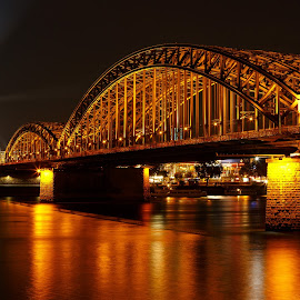 Bridge to the Dom by Matt Shell - Buildings & Architecture Bridges & Suspended Structures ( cologne, dom, koln, cathedral, germany )