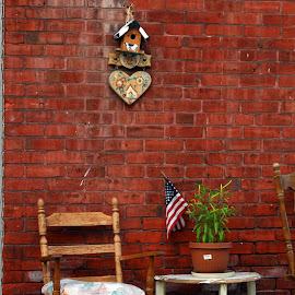 by Eva Pastor - Artistic Objects Furniture ( chair, flag, street, table,  )