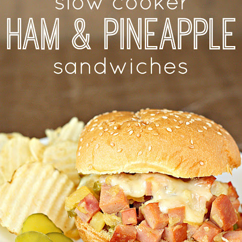 Slow Cooker Ham and Pineapple Sandwiches