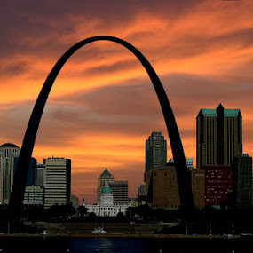 St Louis Arch by Steve Edwards - Travel Locations Landmarks ( arch sunset, arch, st louis arch, st louis downtown,  )