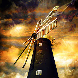 waltham Windmill by Terry Jackson - Buildings & Architecture Public & Historical