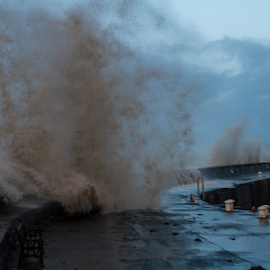 by Paul Scullion - Landscapes Weather ( water, nature, waves, sea, marina, storm, watchet )