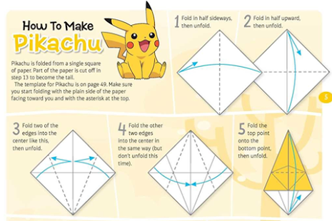 Origami Pickachu - screenshot