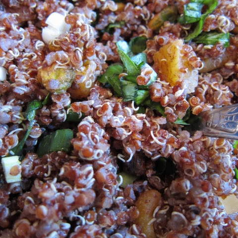 Quinoa Salad with Dried Apricots and Pistachios