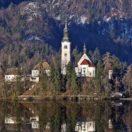 Church on the lake by Almas Bavcic - Buildings & Architecture Other Exteriors
